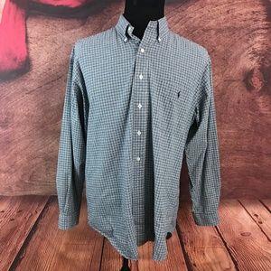 Ralph Lauren Blake Blue Checks Button Front Shirt